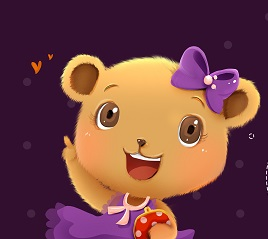 Betty purple background